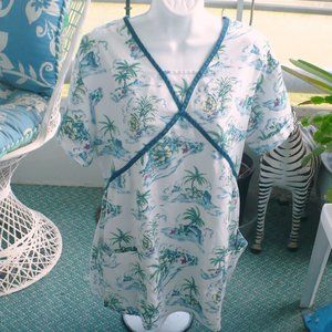 CREST Tops - ❤️CREST Scrub Top Palm Trees Women's Medical Large